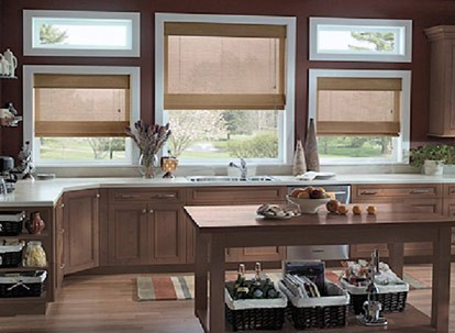 Timber Woven Wood Roman Shades