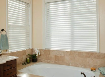 "2"" Norman Essentials Faux Wood Blinds with Smart Privacy"