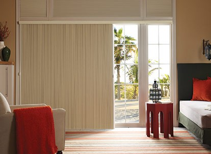 "Timber 3/4"" Translucent Vertical Cellular Shades"