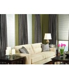Timber Room Darkening Pleated Shades with privacy liner option