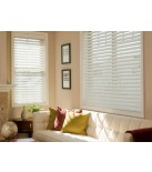 "2 1/2"" Norman Essentials Faux Wood Blinds with Smart Privacy"