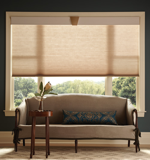 3/8 single Cell Garden Retreat and Elegant Neutrals Cellular Shades